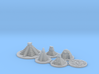 Mayan Pyramids and Calendar center (6 pcs) 3d printed