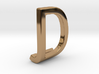 Two way letter pendant - DJ JD 3d printed