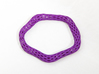 Irregular Bracelet (Size M) 3d printed Printed in Purple Strong & Flexible Polished Plastic