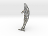 Shapeways-Silver-Dolphin-Straight-tr1-thicker1 3d printed