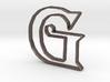 Typography Pendant G 3d printed