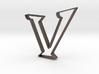 Typography Pendant V 3d printed