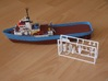 MV Anticosti, Details 1/2 (1:200, RC ship) 3d printed printed detail set as delivered (with final model in background)