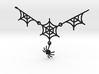 Spider Web With Spider Pendant 3d printed