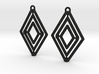 Diamond Gyrocope Earrings 3d printed