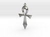 Swept Ankh 3d printed Swept Ankh in Solid Raw Silver