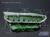 1/72 Leopard 2 Track Links semi connected  3d printed