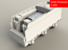 GWR Collett 4000 gal tender, motor cutout, 2mm FS 3d printed Rendering - front