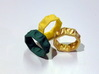 Half Hearted Ring ... a ring with a twist  3d printed The Heart is a powerful tool