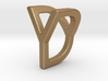 Two way letter pendant - DY YD 3d printed