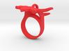Maple Leaf Charm Ring 3d printed