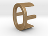 Two way letter pendant - EO OE 3d printed