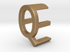 Two way letter pendant - EQ QE 3d printed