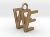 Two way letter pendant - EW WE 3d printed