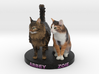 Custom Cat Figurine - Abbey and Zoie 3d printed