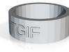 """TGIF"" ring 3d printed"