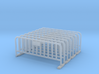 Barrier 01 (portable fence). Scale HO (1:87) 3d printed Metal Barrier (Fence) in scale HO (1:87)