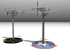 P51D Mustang ,1/56 scale, 28mm wargames 3d printed P51 Mustang with BF109G6. Availables at Shapeways