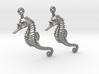 Sea Horse Earrings 3d printed