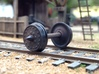 """HO scale 10pc 36"""" Allen paper wheel inserts 3d printed"""