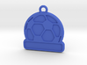 Football / Soccer Ball Keychain (solid) 3d printed