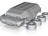 15mm Miniature Scfi Truck APC 3d printed
