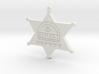 Sunset Sarsaparilla Deputy Sheriff Badge 3d printed
