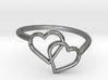 Interlocking Hearts Ring 3d printed