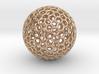 Goldberg Polyhedron pendant 3d printed