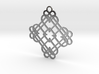 Double Quad Heart Knot Pendant 3d printed