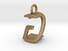Two way letter pendant - GZ ZG 3d printed