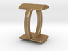 Two way letter pendant - IO OI 3d printed