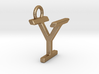 Two way letter pendant - IY YI 3d printed