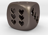 Dice hearts hollow 3d printed