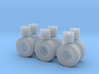 """1/87th Heavy 52"""" Oilfield or Off Road tires, set 1 3d printed"""