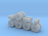 """1/87th Heavy 52"""" Oilfield or Off Road tires, set 2 3d printed"""
