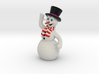 Christmas Snowman Smiling Waving OrangeWhite Scarf 3d printed Please note that the red parts of the scarf will turn out orange!!!