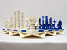 Chess Set Pieces Blue (PART 5) 3d printed 3D Printed Prototype