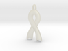 Invisible illness Ribbon Pendant 3d printed