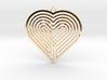 Heart Maze-Shaped Pendant 5 3d printed