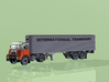N scale DAF DO 2400 with DAF Eurotrailer 3d printed Inventor render DAF DO 2400 with DAF Eurotrailer
