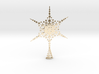 Sparkle Snow Star - Fractal Tree Top - HP3 - S 3d printed