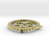Steampunk Gear Pentacle 3d printed