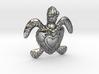 Baby Turtle Heart Pendant 3d printed Baby Turtle Heart Pendant