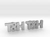 Monogram Cufflinks T&H 3d printed