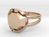 Size 8 Diamond Ring 3d printed