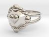 Size 6 Diamond Heart Ring E 3d printed