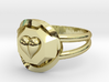 Size 7 Diamond Heart Ring F 3d printed