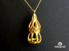 Dictyocysta pendant 3d printed Dictyocysta pendant in polished gold steel