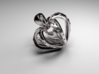 Heart in the Heart pendant 3d printed Heart in the Heart pendant